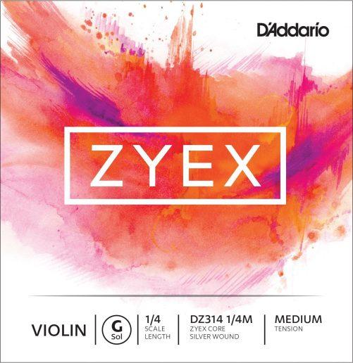 Zyex Violin G String 1/4 Medium Silver