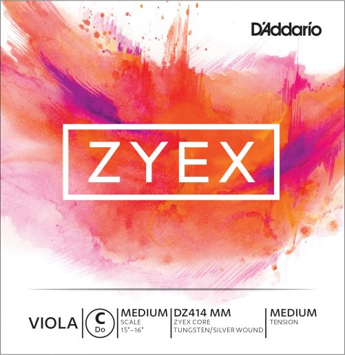 Zyex Viola C String 36cm Medium Tungsten-silver