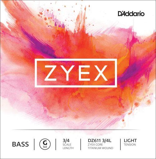Zyex Double Bass D String 3/4 Medium