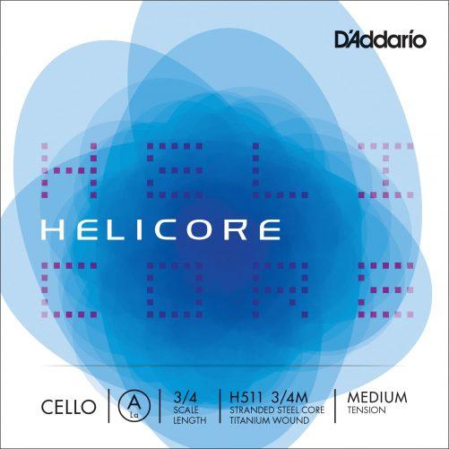 Helicore Cello A String 3/4 Medium