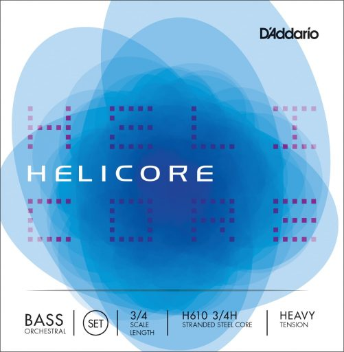 Helicore Orchestral Double Bass Set of Strings 3/4 High