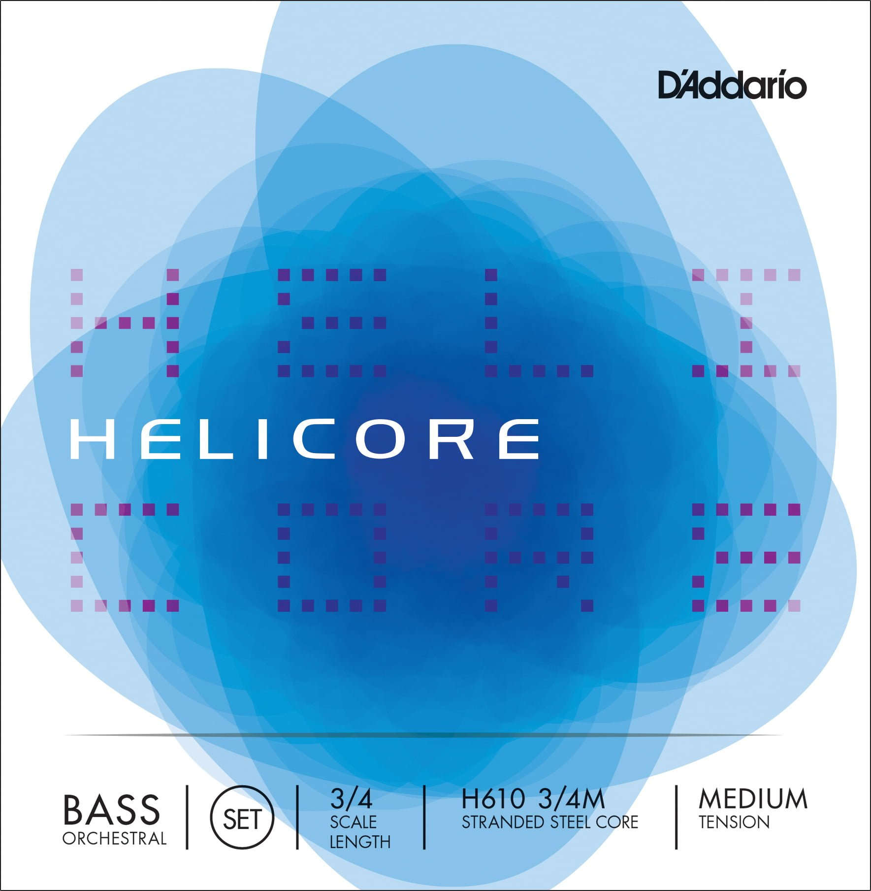 Helicore Orchestral Double Bass Set of Strings 3/4 Medium