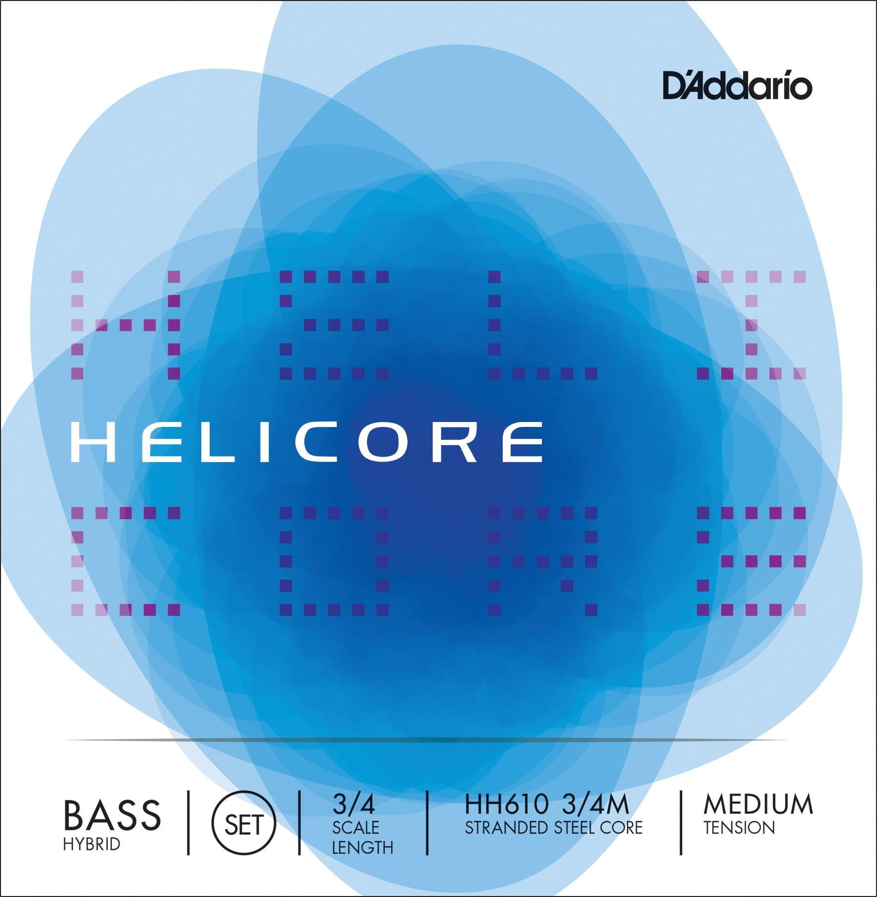 Helicore Hybrid Double Bass Set of Strings 3/4 Medium