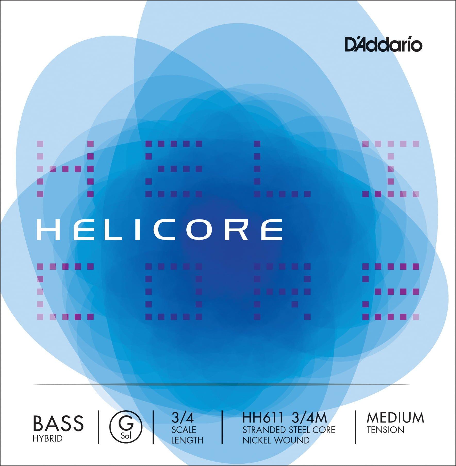 Helicore Hybrid Double Bass G String 3/4 Medium