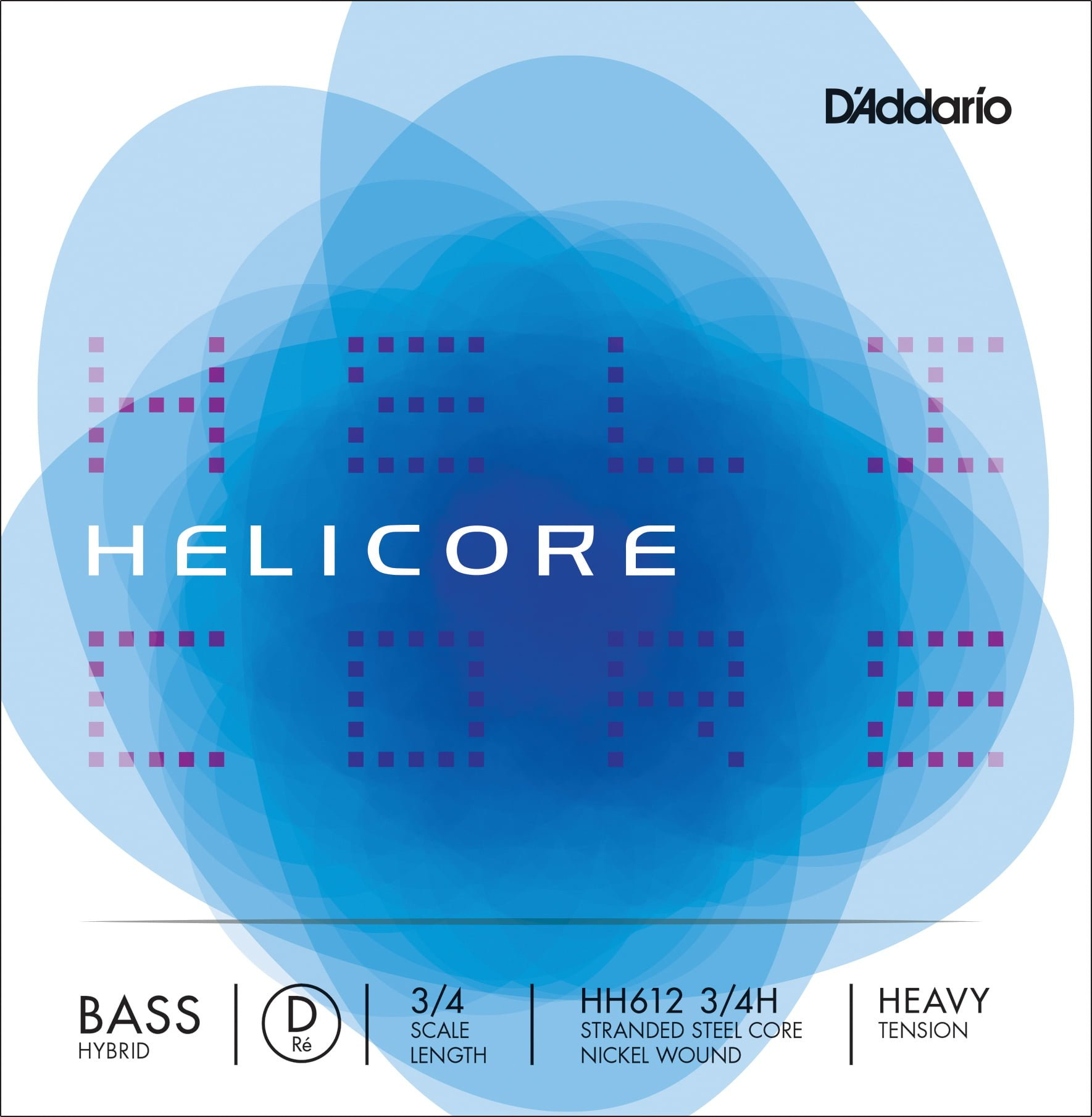 Helicore Hybrid Double Bass D String 3/4 High