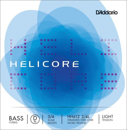 Helicore Hybrid Double Bass D String 3/4 Low