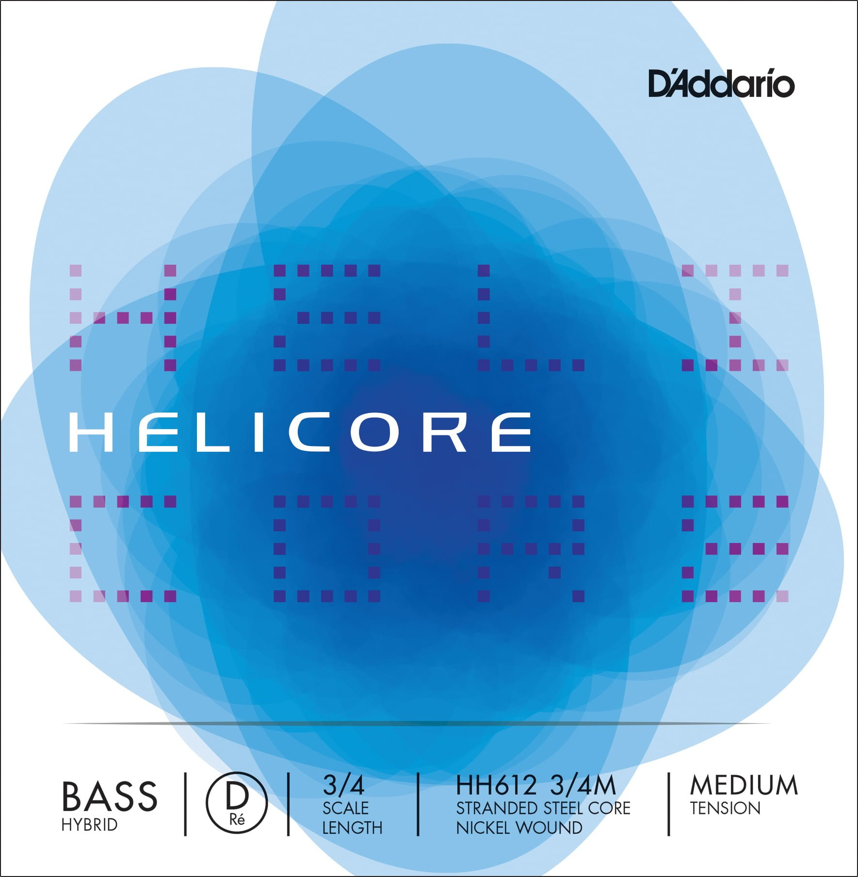 Helicore Hybrid Double Bass D String 3/4 Medium