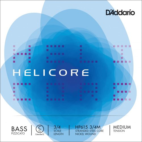 Helicore Pizzicato Double Bass 2.1m Ext. E String 3/4 Medium