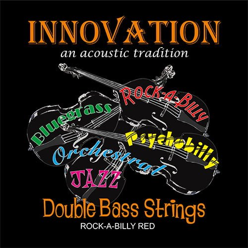 Rock A Billy Red Double Bass Set of Strings 3/4 Medium