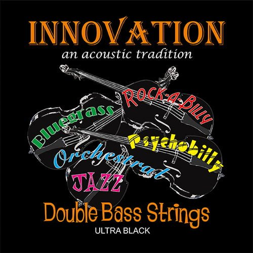 Ultra Black Double Bass Set of Strings 3/4 High