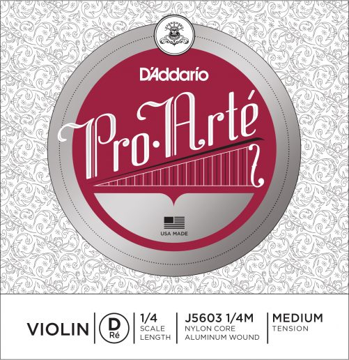 Pro Arte Violin D String 1/4 Medium