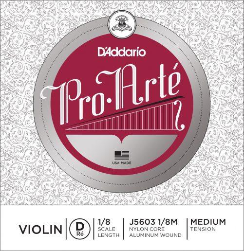 Pro Arte Violin D String 1/8 Medium
