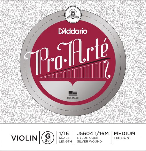 Pro Arte Violin G String 1/16 Medium
