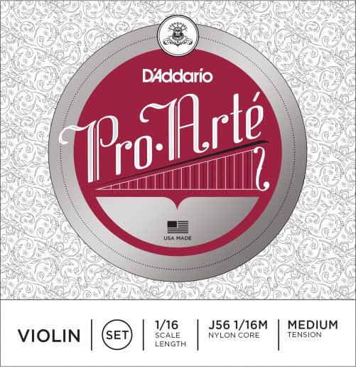 Pro Arte Violin Set of Strings 1/16 Medium