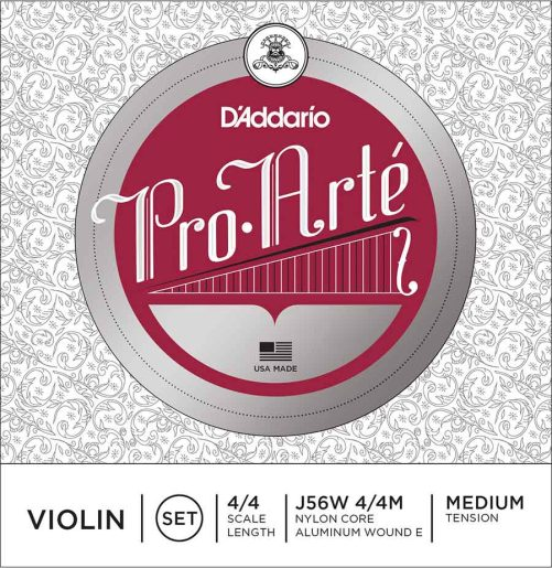 Pro Arte Violin Set of Strings (Wound E) 4/4 Medium