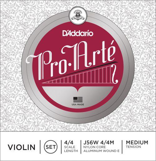 Pro Arte Violin Set of Strings (Wound E) 4/4 Medium