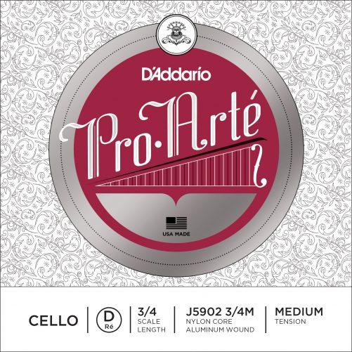 Pro Arte Cello D String 3/4 Medium