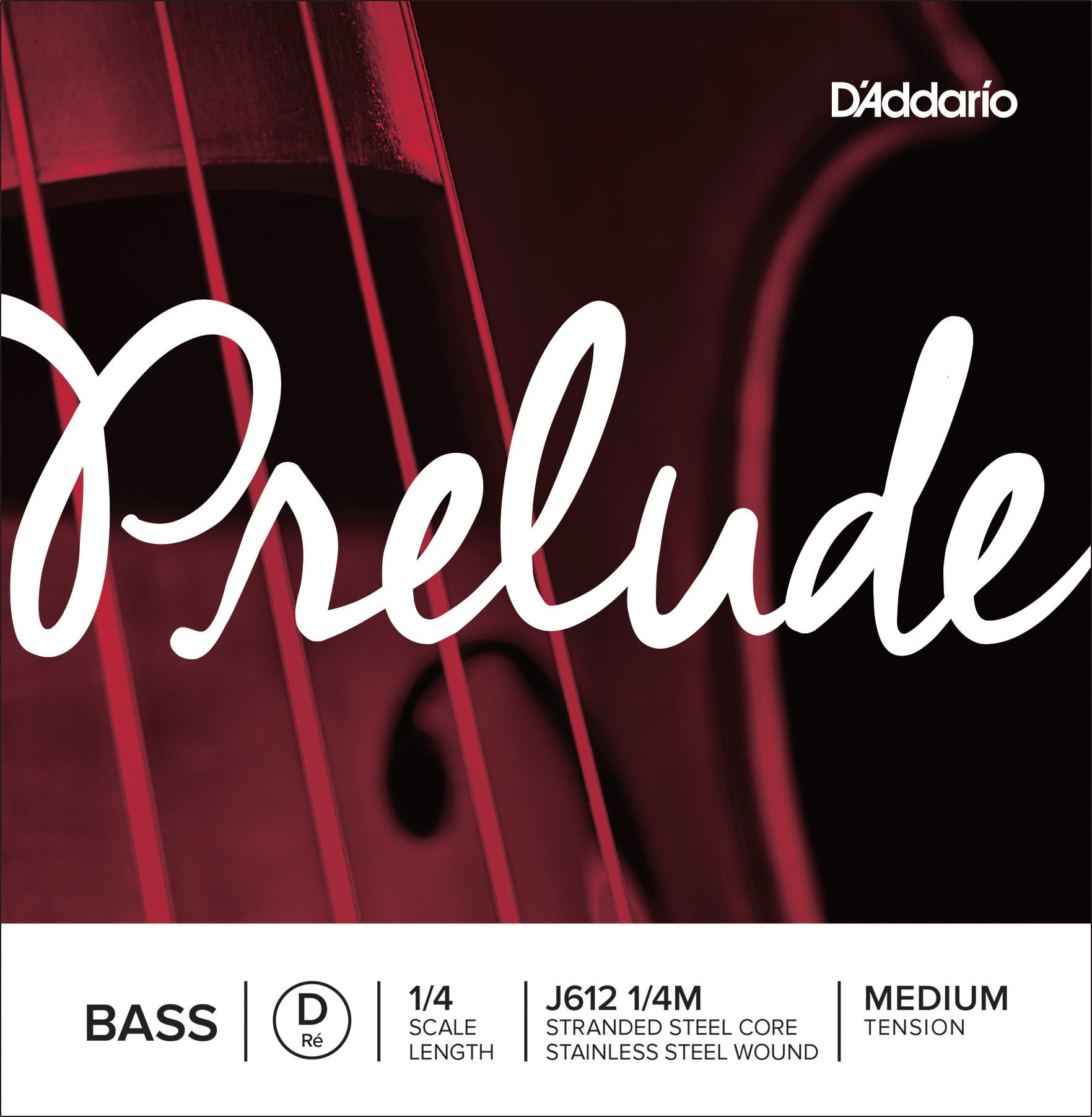 Prelude Double Bass D String 1/4 Medium