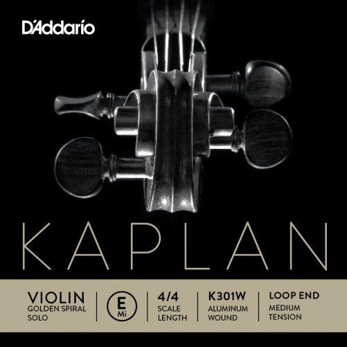 Kaplan Violin E String 4/4 Medium Aluminium Loop