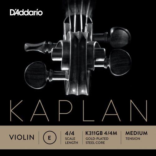 Kaplan Violin E String 4/4 Medium Gold-plated Ball