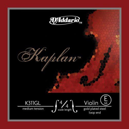 Kaplan Violin E String 4/4 Medium Gold-plated Loop