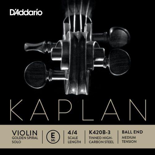Kaplan Violin E String 4/4 Medium Ball