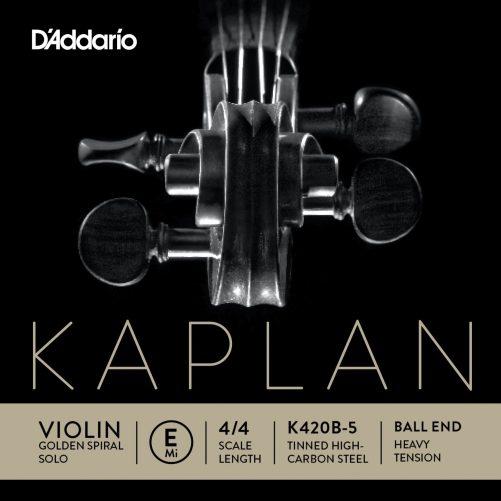 Kaplan Violin E String 4/4 High Ball