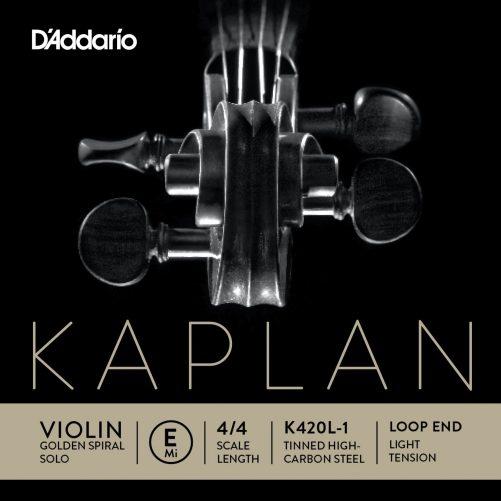 Kaplan Violin E String 4/4 Low Loop