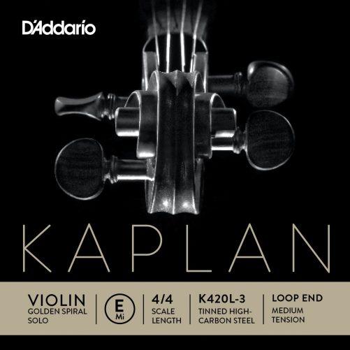 Kaplan Violin E String 4/4 Medium Loop