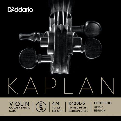Kaplan Violin E String 4/4 High Loop