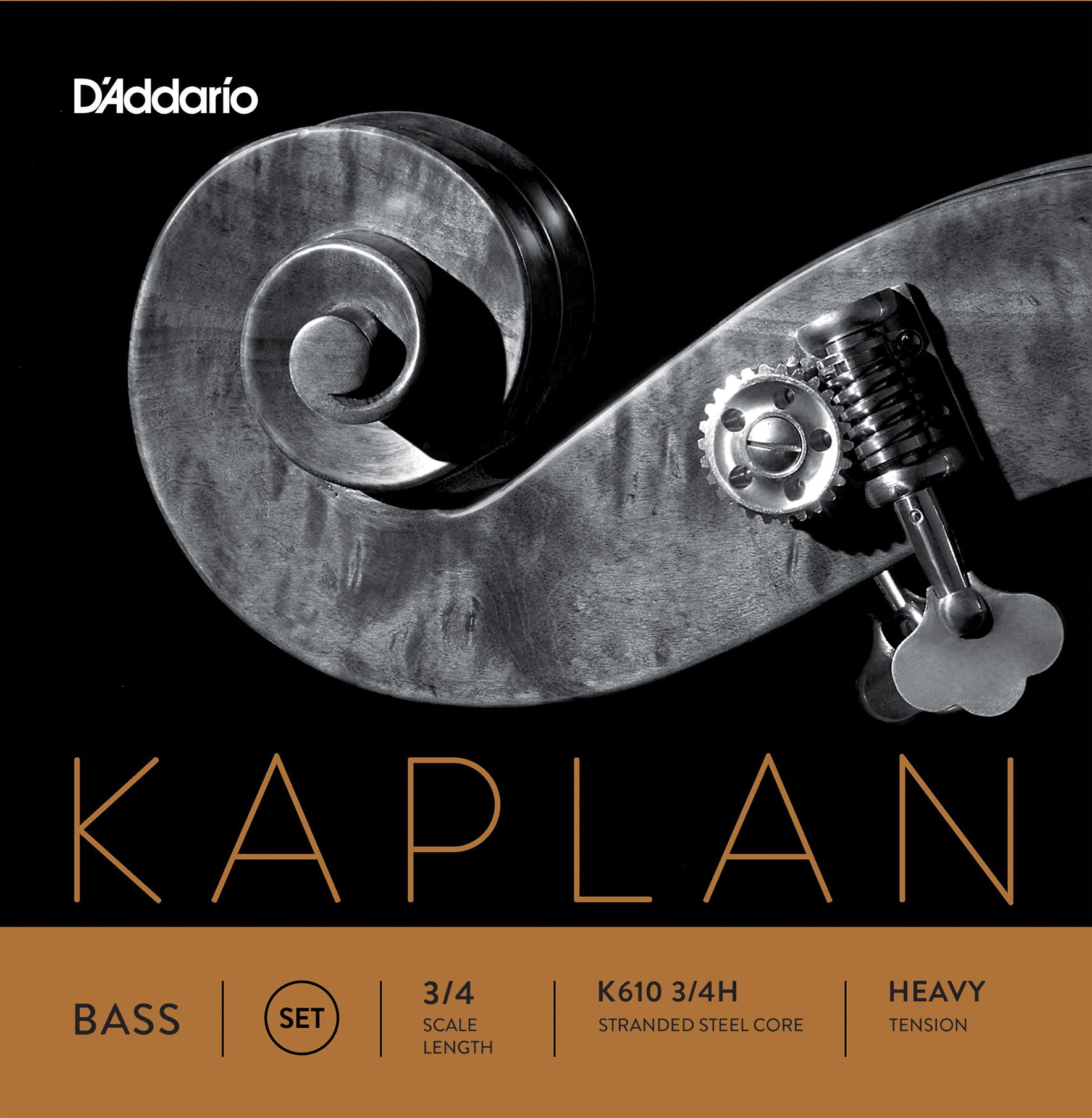 Kaplan Double Bass Set of Strings 3/4 High