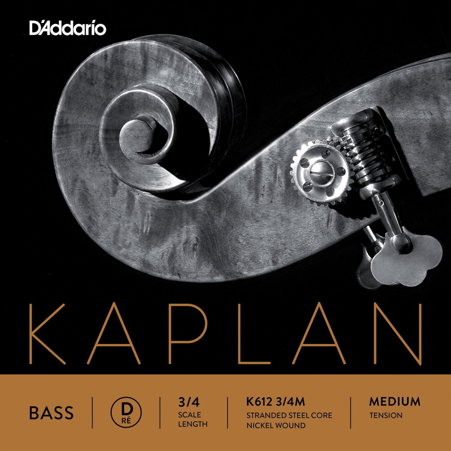 Kaplan Double Bass D String 3/4 Medium