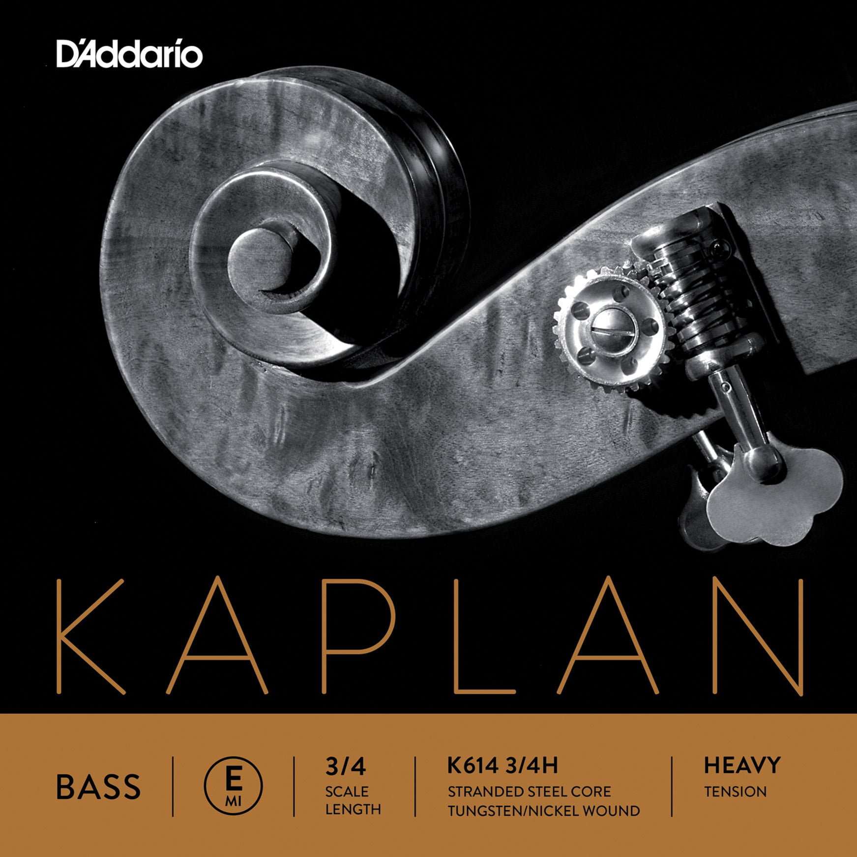 Kaplan Double Bass E String 3/4 High