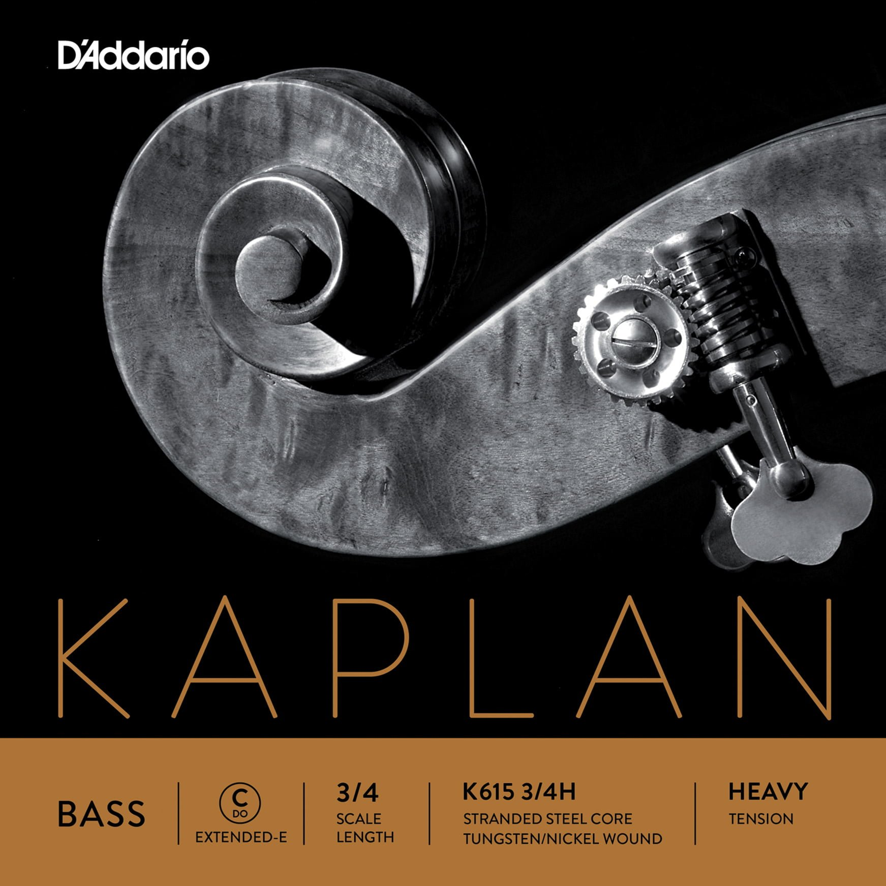 Kaplan Double Bass 2.1m Ext. E String 3/4 High