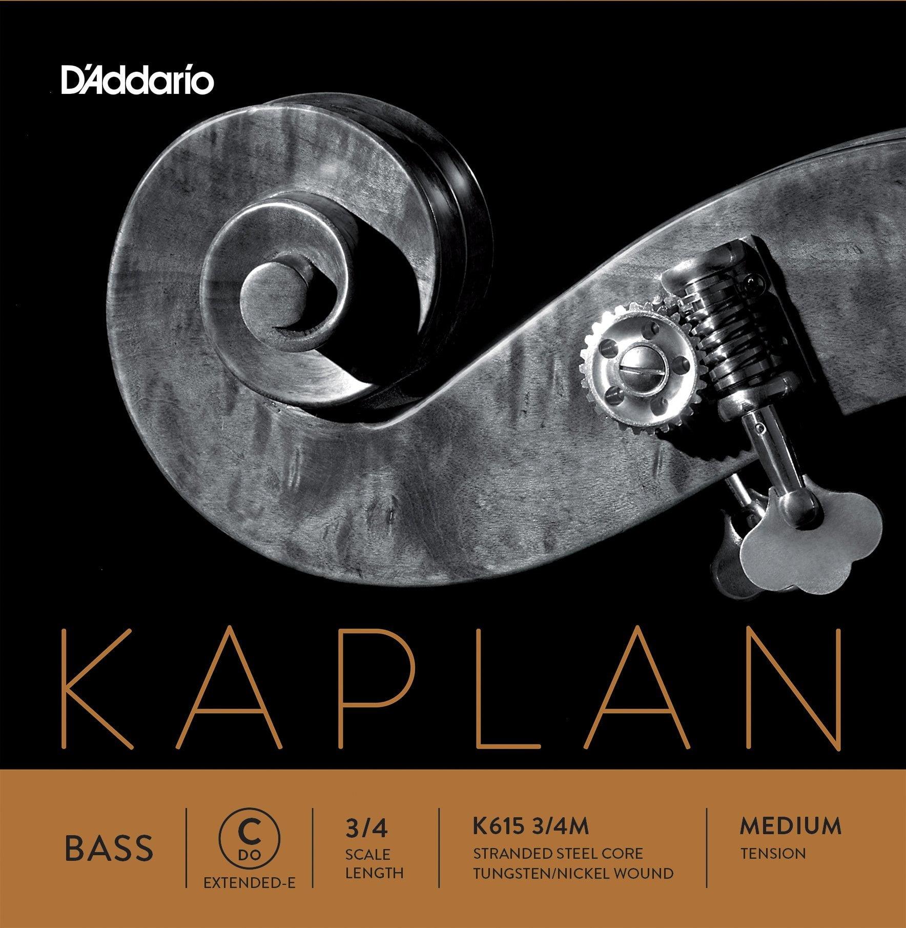 Kaplan Double Bass 2.1m Ext. E String 3/4 Medium