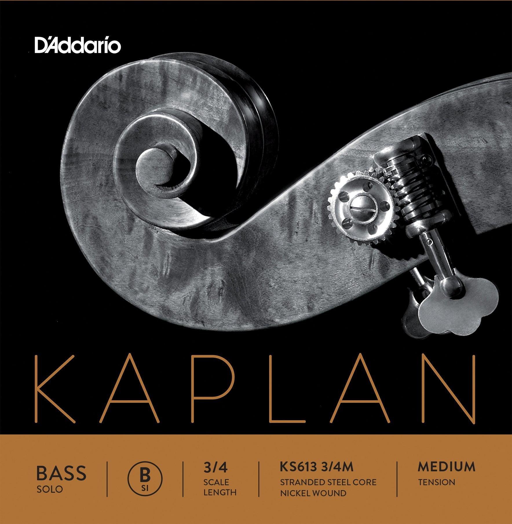 Kaplan Double Bass Solo B String 3/4 Medium