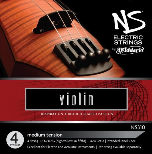 NS Electric Violin Set of Strings Medium