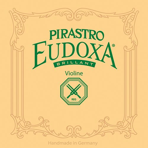 Eudoxa Brilliant Brilliant Violin D String 4/4 Medium Silver