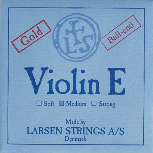 Larsen Violin E String 4/4 Low Ball Gold-plated