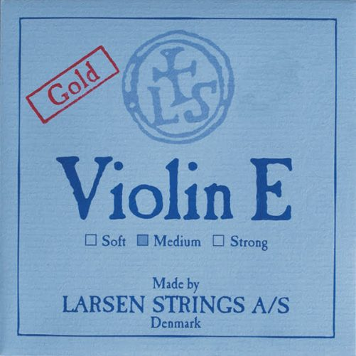 Larsen Violin E String 4/4 Low Loop Gold-plated