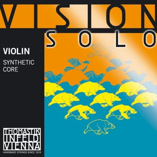 Vision Solo Violin Set of Strings 4/4 Medium Ball Aluminium