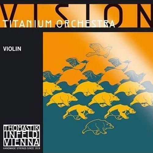 Vision Titanium Orchestra Violin G String 4/4 Medium Ball Silver