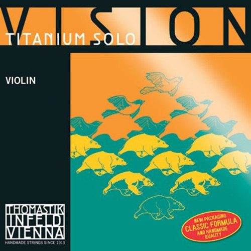 Vision Titanium Solo Violin G String 4/4 Medium Ball Silver